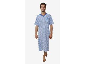 Pánská noční košile CALVI 18-436 - sv. modrá (Velikost XXL)