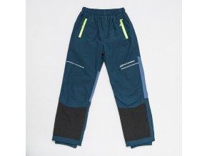 Chlapecké šusťákové kalhoty s flísem WOLF B2875 - petrolej (Velikost 158)