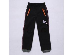 Dívčí softshellové kalhoty WOLF B2982 - černé (Velikost 146)
