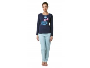 Dámské pyžamo CALVI 18-369 - tyrkysové (Velikost XL)