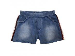 Dívčí riflové šortky KUGO K905 - modré (Velikost 158/164)