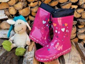 Dětské holinky WOLF Y2907 - růžové (Velikost 36)