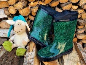 Dětské holinky WOLF Y2907 - zelené (Velikost 36)