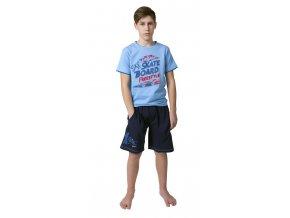 Chlapecké kraťasy Calvi 19-002 - modré (Velikost 170)