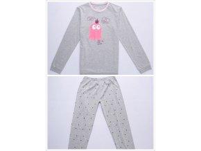 Dívčí pyžamo WOLF S2853 - šedé (Velikost 164)