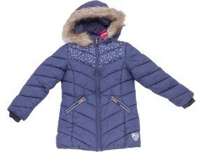 Dívčí bunda-kabát WOLF B2968 - tm. modrá (Velikost 146)
