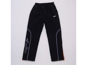 Dětské šusťákové kalhoty s flísem WOLF B2974 - černé (Velikost 128)