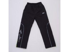 Dětské šusťákové kalhoty s flísem WOLF B2974 - tm. šedé (Velikost 128)