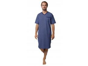 Pánská noční košile Calvi 19-528 - tm. modrá (Velikost XL)
