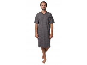 Pánská noční košile Calvi 19-528 - šedá (Velikost XL)