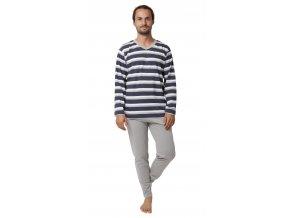 Pánské pyžamo CALVI 19-555 - šedé (Velikost XXL)