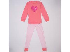 Dívčí pyžamo WOLF S2953 - lososové (Velikost 164)