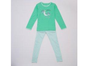 Dívčí pyžamo WOLF S2954 - zelinkavé (Velikost 146)