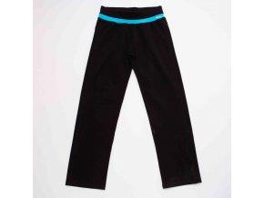 Dámské legíny WOLF T2971C - černé, modrý lem (Velikost XXL)
