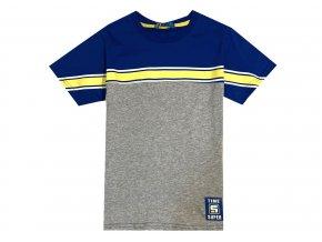 Chlapecké triko KUGO ML-7160 - šedý melír (Velikost 146)