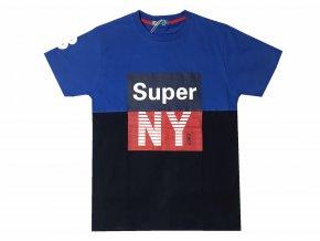 Chlapecké triko KUGO ML-7161 - modré (Velikost 164)