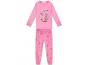 Dívčí pyžamo KUGO MP-1246 - sv. růžové (Velikost 128)