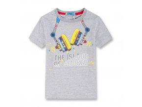 Chlapecké triko KUGO XC2707 - šedé, nápis ve tmě svítí (Velikost 146)