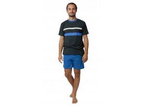 Pánské pyžamo CALVI 19-535 - tm. zelené (Velikost XXL)