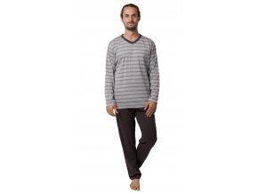 Pánské pyžamo CALVI 19-546 - tm. šedé (Velikost XXL)