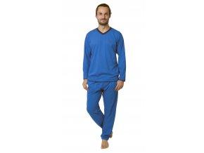 Pánské pyžamo CALVI 19-096 - sv. modré (Velikost XL)