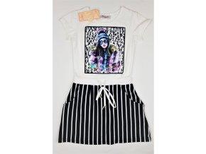 Dívčí šaty Fiona 8362 - s přesýpacím obrázkem (Velikost 8let)