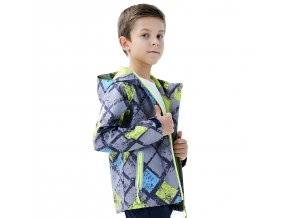 Chlapecká softshellová bunda KUGO S6926 - šedá (Velikost 128)