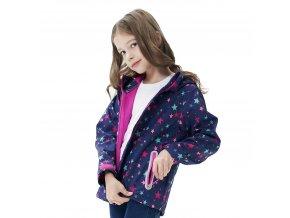 Dívčí softshellová bunda KUGO S6926 - tm. modrá (Velikost 128)