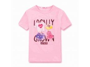 Dívčí triko KUGO ET3161 - růžové, NIGHT EFFECT (Velikost 146)