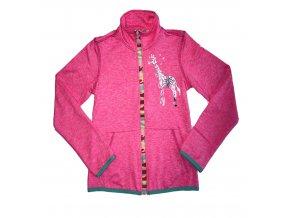 Dívčí mikina WOLF M2041 - růžová (Velikost 140)