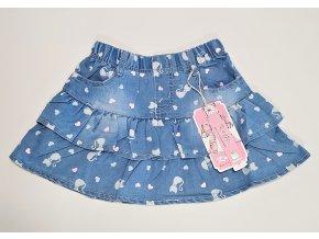 Dívčí riflová sukýnka KUGO KS9860 - modrá (Velikost 128)