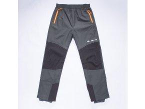 Dětské šusťákové kalhoty s flísem WOLF B2873 - šedé (Velikost 158)