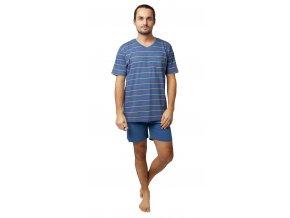 Pánské pyžamo Calvi 20-135 - modrošedé