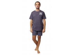 Pánské pyžamo Calvi 20-134 - modrošedé