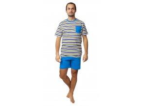 Pánské pyžamo Calvi 20-138 - modrožluté