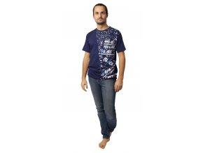Pánské triko Calvi 20-070 -  tm. modré