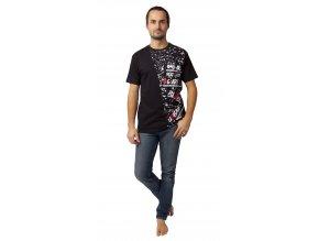 Pánské triko Calvi 20-070 -  černé