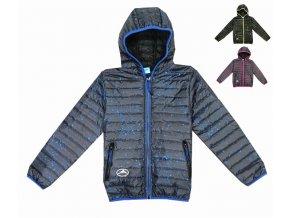Chlapecká bunda KUGO K6200 - tm. modrá, modrý zip (Velikost 8let)