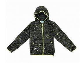 Chlapecká bunda KUGO K6200 - černá, žlutý zip (Velikost 6let)