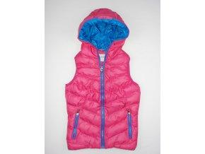 Dívčí vesta s kapucí SEAGULL 6022 - růžová (Velikost 8let)