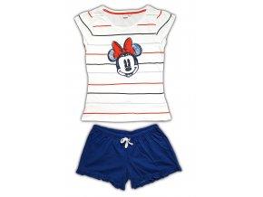 Dámské pyžamo MINNIE 3585 - bílá, modrá