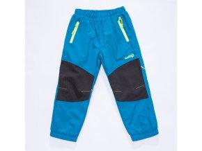 Dětské šusťákové kalhoty s flísem WOLF B2871 - tm. tyrkys (Velikost 92)