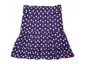 Dívčí sukně NAF NAF 1018 - puntík, tm. modrá