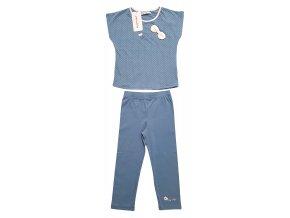 Dívčí pyžamo NAF NAF 3010 - modrošedé