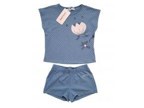 Dívčí pyžamo NAF NAF 3008 - modrošedé