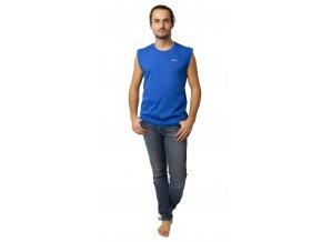 Pánské triko bez rukávu CALVI 20-069 - modré