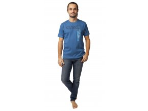 Pánské triko CALVI 20-071 - modré