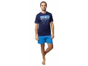 Pánské pyžamo CALVI 20-127 - modré