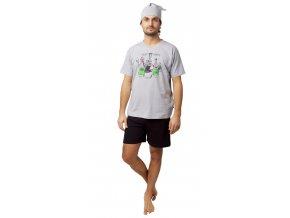 Pánské pyžamo CALVI 20-133 - šedé