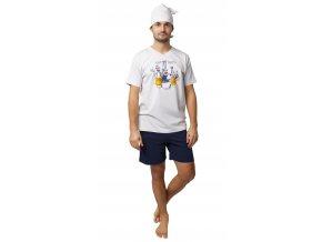 Pánské pyžamo CALVI 20-133 - smetanové